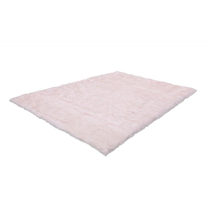 Tapis imitation mouton CHICAGO rectangulaire tufté à la main (Blanc Rosé) - image 41502