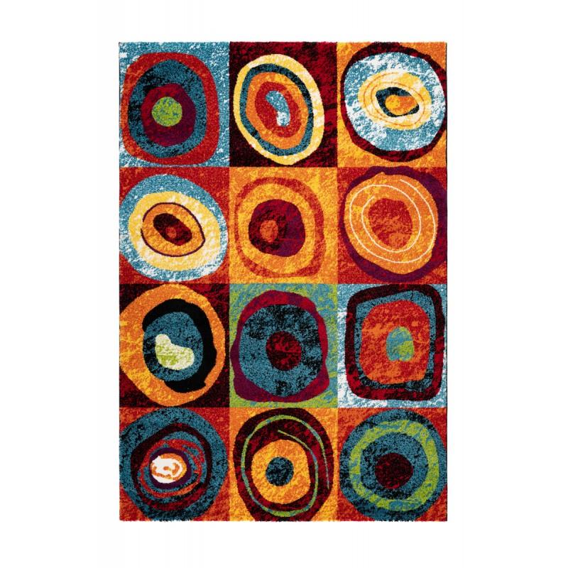 Tapis design et contemporain PHUKET rectangulaire tissé à la machine (Multicolore) - image 41570