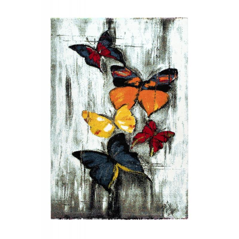 Tapis design et contemporain RAYONG rectangulaire tissé à la machine (Multicolore) - image 41573