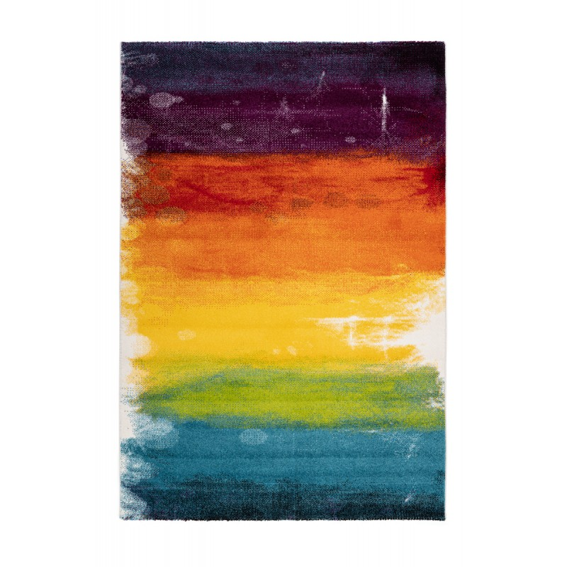 Tapis design et contemporain HANOI rectangulaire tissé à la machine (Multicolore) - image 41576