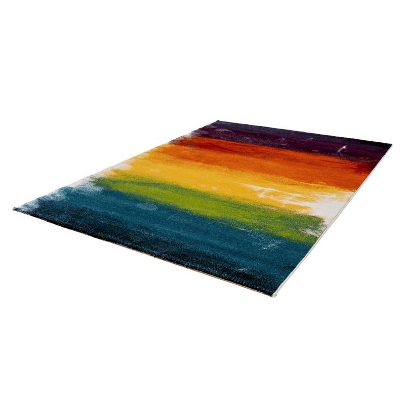 Tapis design et contemporain HANOI rectangulaire tissé à la machine (Multicolore) - image 41578