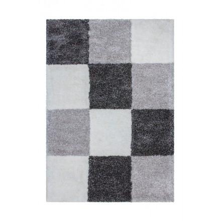 Grafischen Teppich rechteckig Burgas getan Hand (grau anthrazit grau)