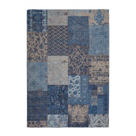 Carpet jaquard made rectangular MARSALA hand (blue)