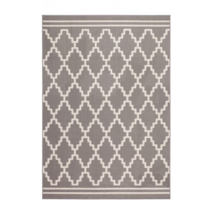 Graphic rug rectangular SEGESTA woven machine (Mole ivory)
