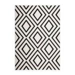 Rectangulares alfombras gráfico AUGUSTA tejidos por la máquina (Negro Marfil)