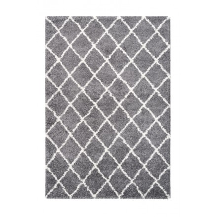 Graphic Guinea rectangular carpet woven machine (grey)