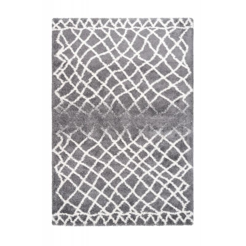 Tapis graphique AVOLA rectangulaire tissé à la machine (Gris) - image 41679