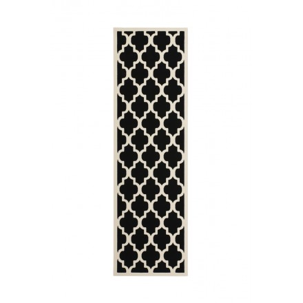 Graphic rug rectangular ALCAMO woven machine (dark Beige)