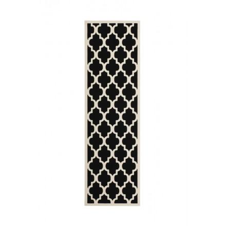Grafischen Teppich rechteckig ALCAMO gewebt Maschine (dunkelbeige)