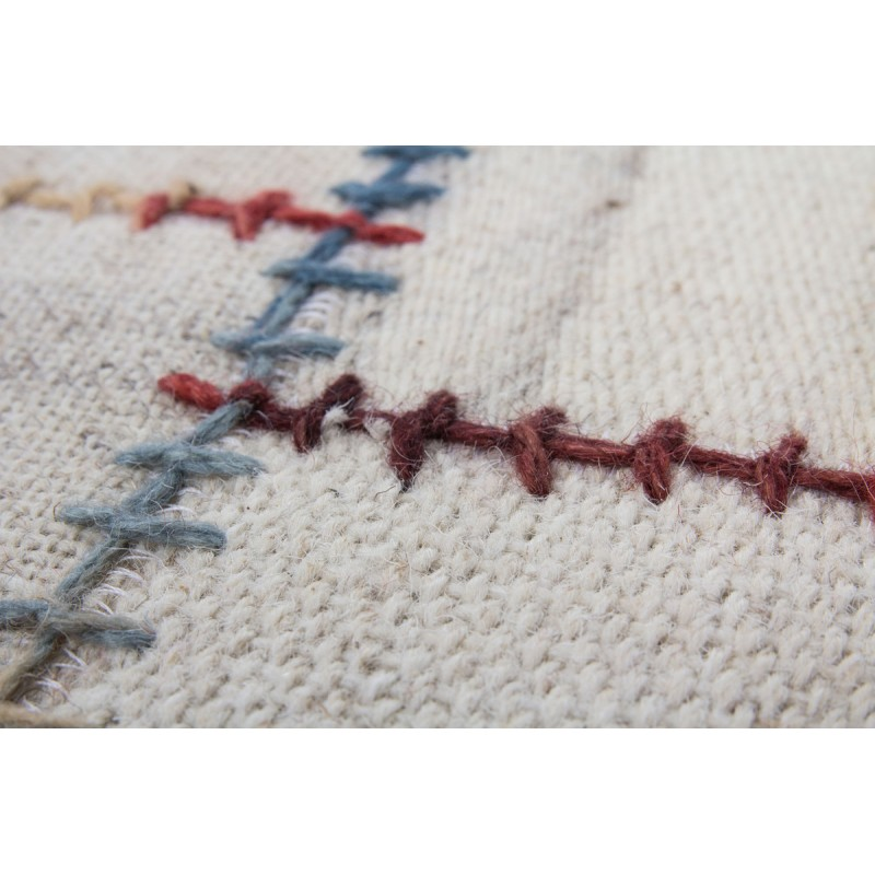 Tapis patchwork fait main COSIMO rectangulaire fait main (Beige) - image 41726
