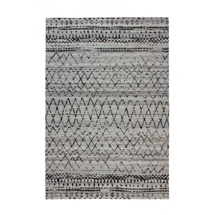 Rectangular DENVER graphic rugs woven by machine (Brown gray)