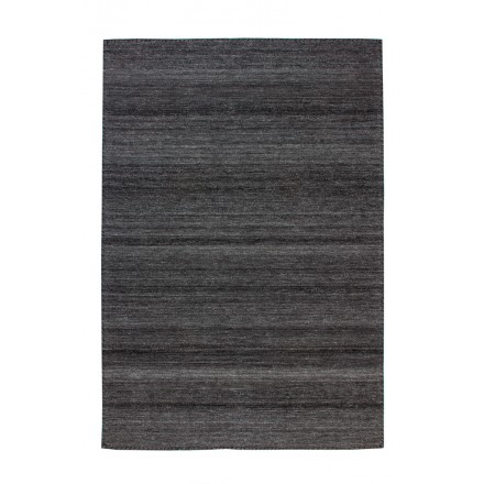 Carpet design and contemporary ATLANTA rectangular woven machine (charcoal gray)