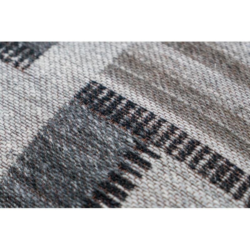 Pouf patchwork AUSTIN Carré tissé à la machine (Beige Gris Noir) - image 41756