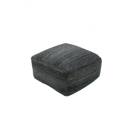 DALLAS square Ottoman woven machine (charcoal gray)