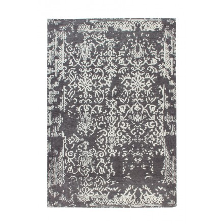 Retro rug is hand made rectangular NASHVILLE hand (grey anthracite grey)