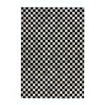 Alfombra 100% cuero es hecha a mano rectangular TAMPA (gris antracita)