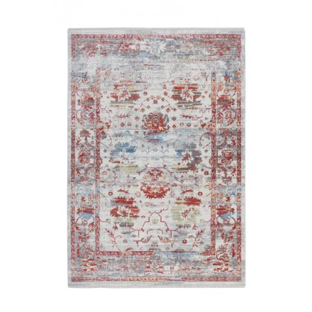 Tapis vintage ANTIGUA rectangulaire tissé à la machine (Multicolore)
