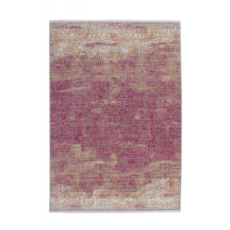 Tapis vintage ANTIGUA rectangulaire tissé à la machine (Orange Rouge)
