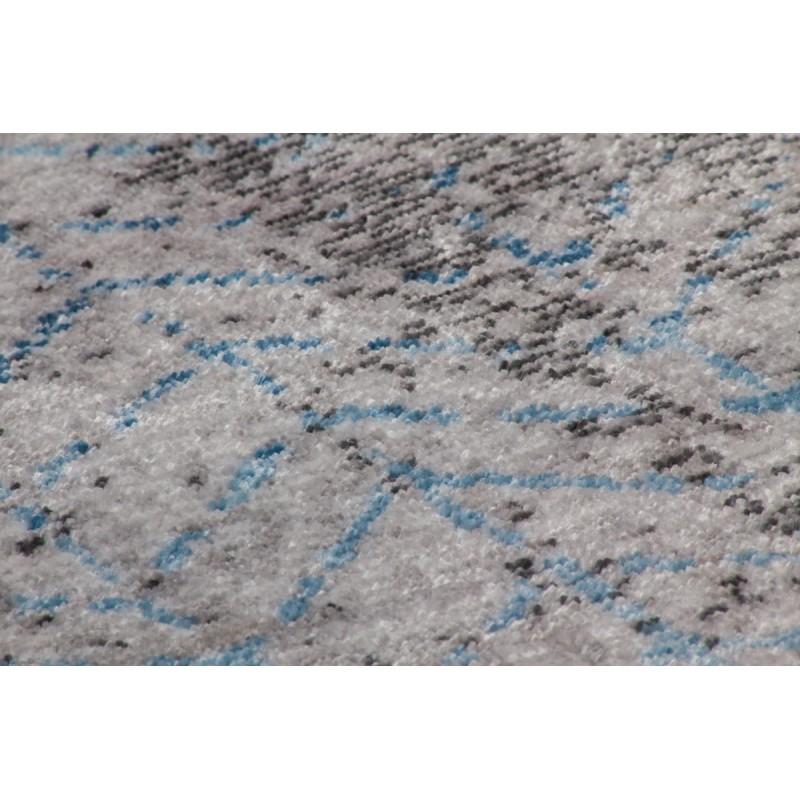 Tapis vintage ANTIGUA rectangulaire tissé à la machine (Gris Bleu turquoise) - image 41856