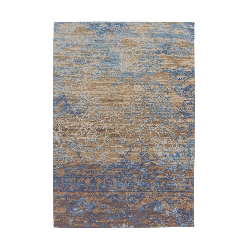 Tapis vintage COLOMBUS rectangulaire tissé à la machine (Bleu Marron) - image 41890