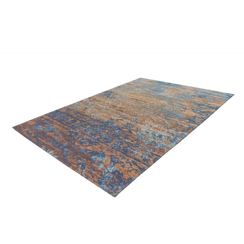 Tapis vintage COLOMBUS rectangulaire tissé à la machine (Bleu Marron) - image 41893