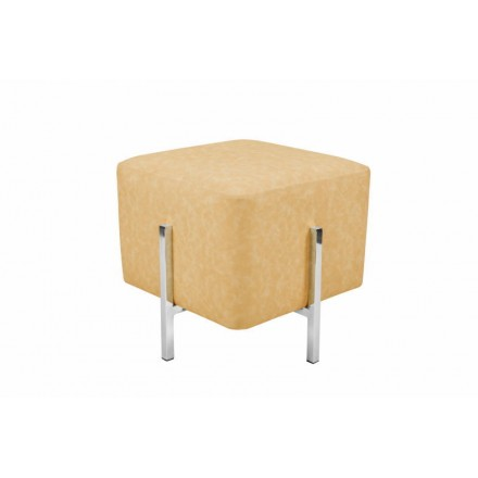 Pouf design CELYA (Silver yellow)