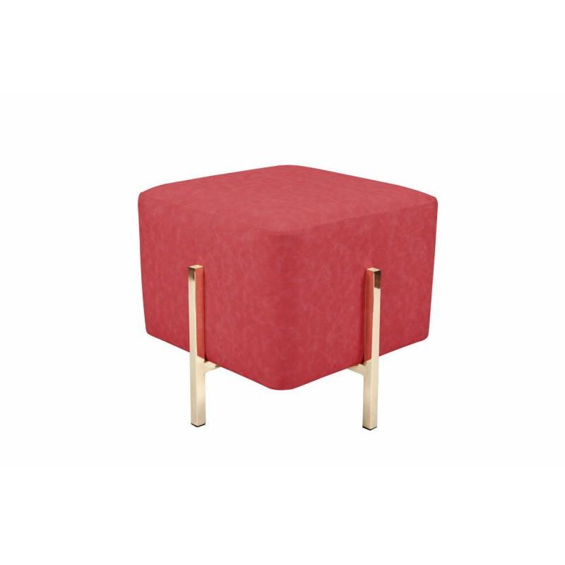Pouf design ELONA (Rouge doré)
