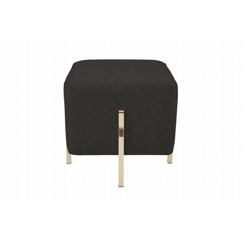 Pouf design ELONA (Noir gris doré) - image 41986