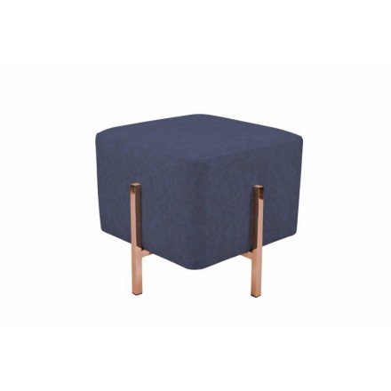 Pouf design LYSON (blue copper)