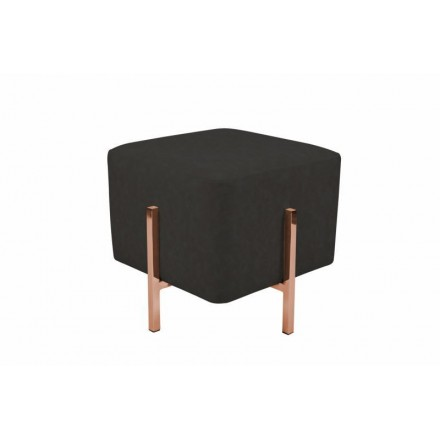 Pouf design LYSON (grey black copper)