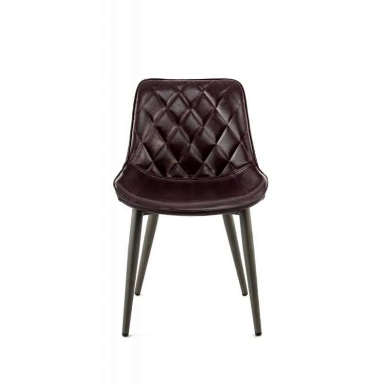 Lot de 2 chaises rétro matelassées EUGENIE (Violet) - image 42004