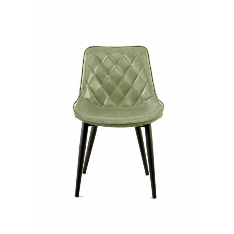 Lot de 2 chaises rétro matelassées EUGENIE (Vert) - image 42013