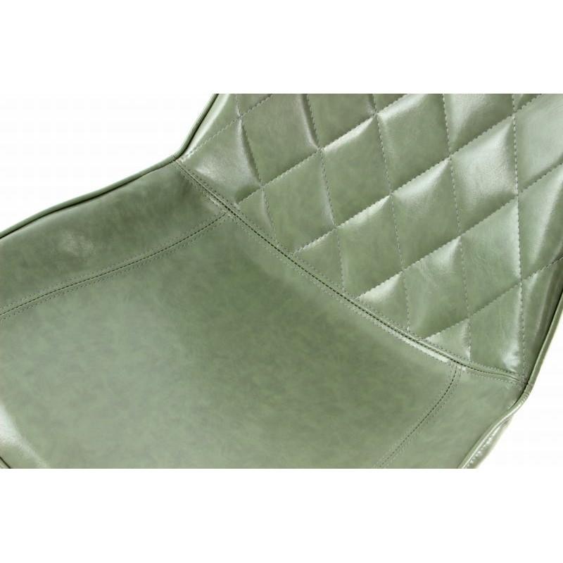 Lot de 2 chaises rétro matelassées EUGENIE (Vert) - image 42018