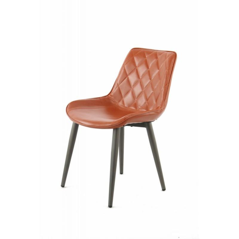 Lot de 2 chaises rétro matelassées EUGENIE (Marron) - image 42023