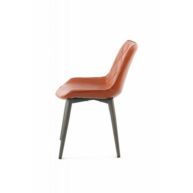 Lot de 2 chaises rétro matelassées EUGENIE (Marron) - image 42024