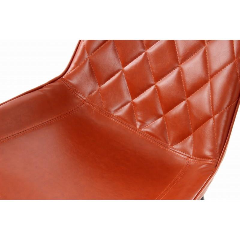 Lot de 2 chaises rétro matelassées EUGENIE (Marron) - image 42027