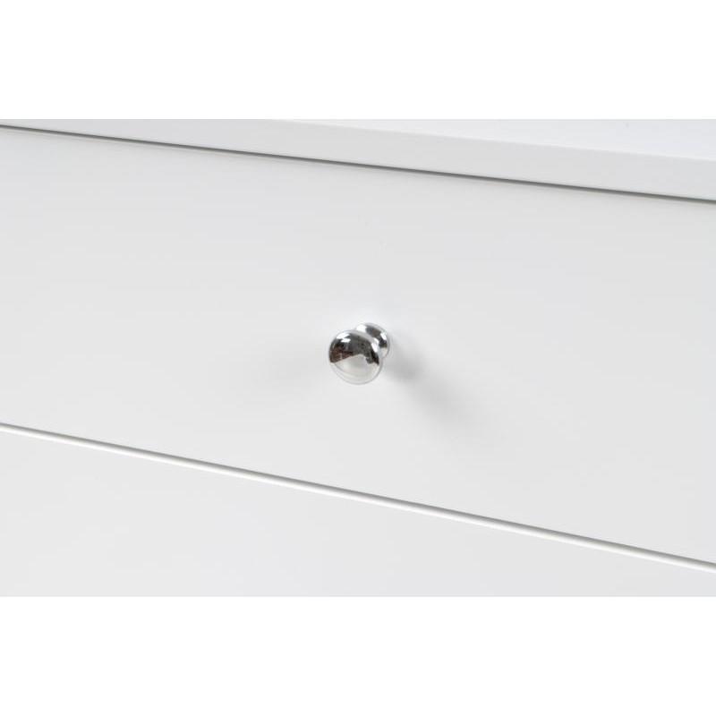Meuble de rangement table de nuit 2 tiroirs scandinave MAITHE (Blanc, Naturel) - image 42258
