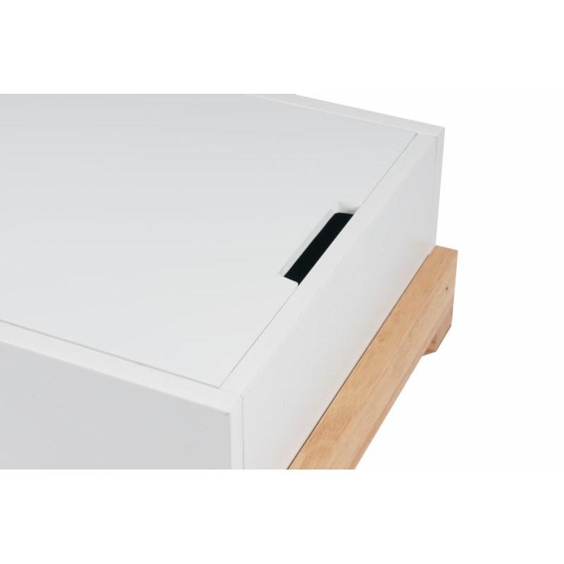 Meuble de rangement table de nuit scandinave MAITHE (Blanc, Naturel) - image 42268