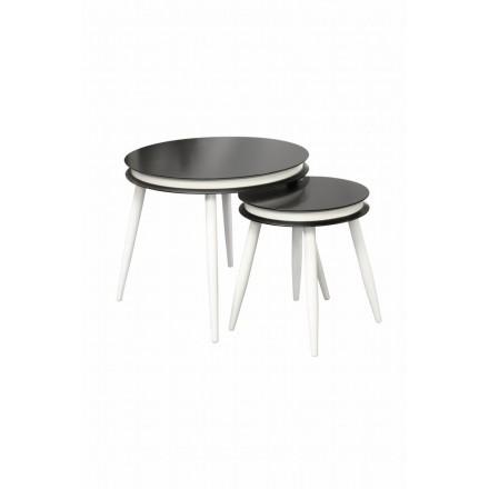 Mesas extraíbles ROSINE en madera MDF y Álamo (negro)