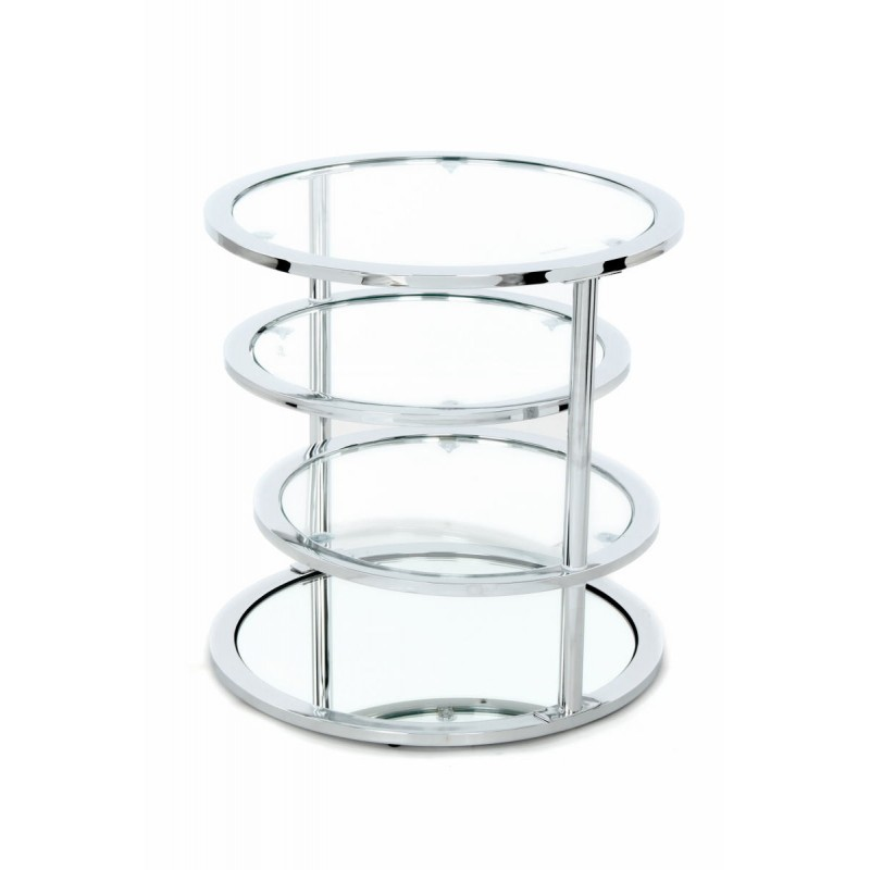 table d 39 appoint 4 plateaux bout de canap gladie en m tal. Black Bedroom Furniture Sets. Home Design Ideas