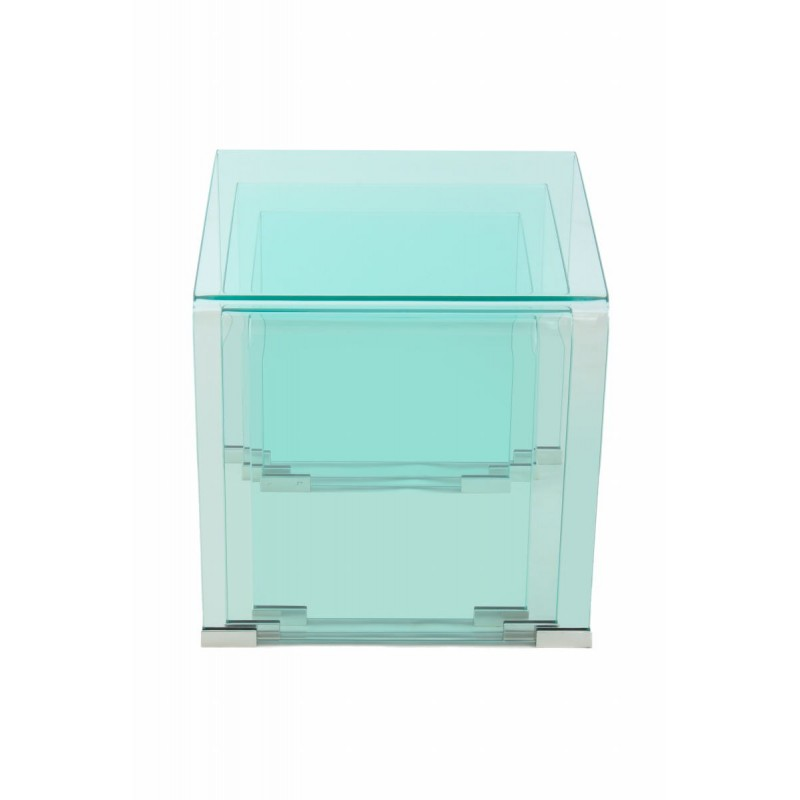 Tables Gigognes Tanya En Verre Transparent