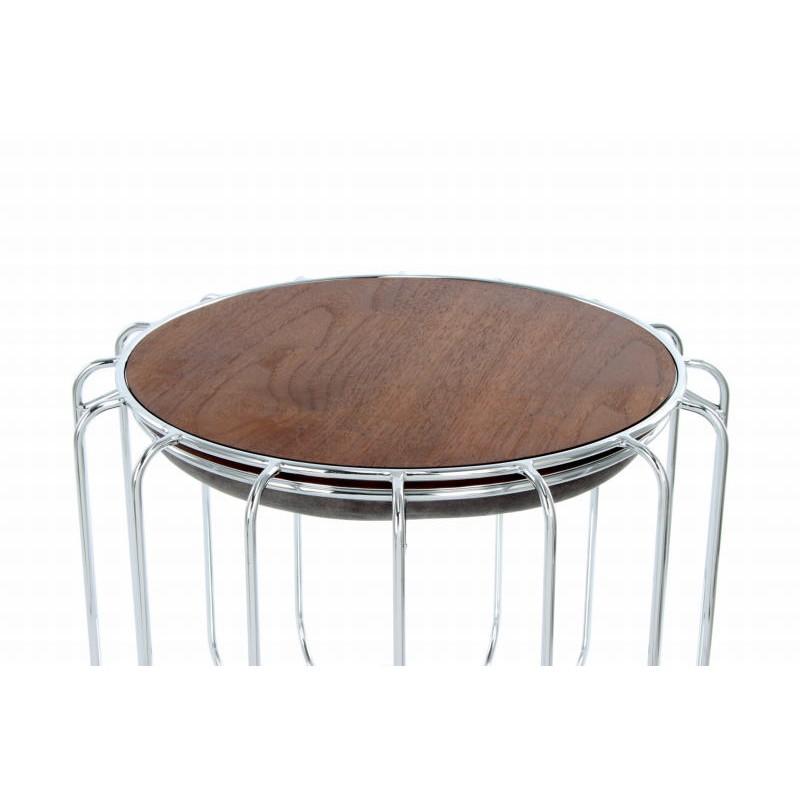 Pouf, table d'appoint FAUVE en velours (Gris, Argent) - image 42551