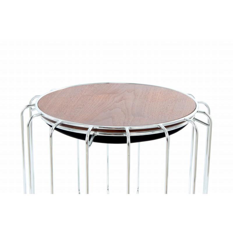 Pouf, table d'appoint FAUVE en velours (Noir, Argent) - image 42583