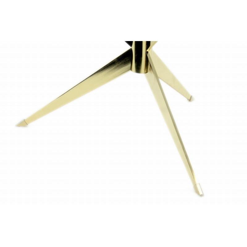 Tabelle 3 Tabletts, Ende des MARION Sofa aus Metall und glas (Transparent, Gold) - image 42680