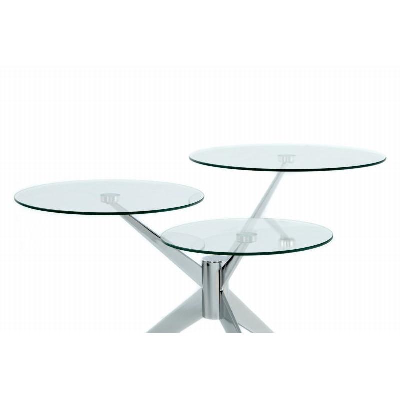 Tabella 3 vassoi, fine del divano di MARION in metallo e vetro (trasparenti, soldi) - image 42696