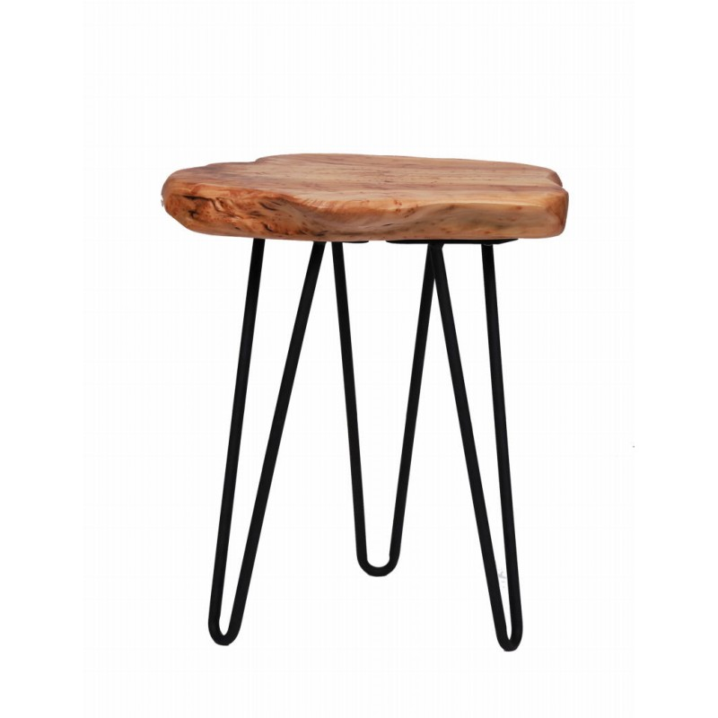 End table, end table ELISE metal and cedar wood (natural) - image 42703