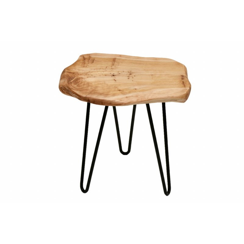 End table, end table ELISE metal and cedar wood (natural) - image 42705