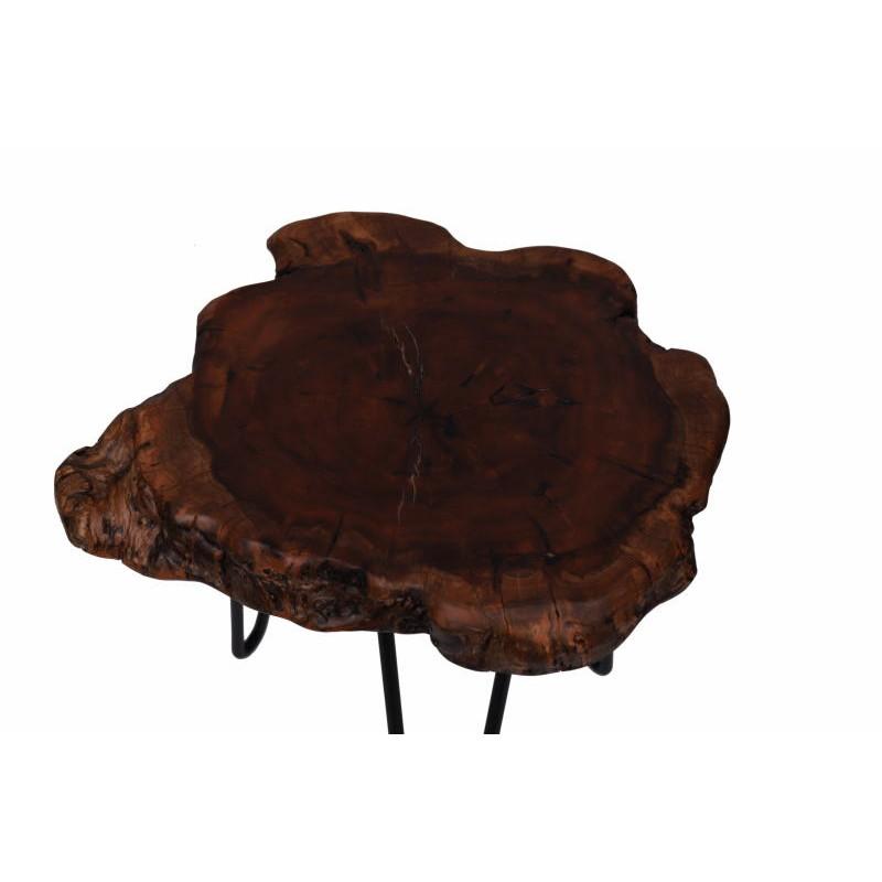 Fine tabella, tabella di estremità VESNA in metallo e legno (naturale) - image 42717
