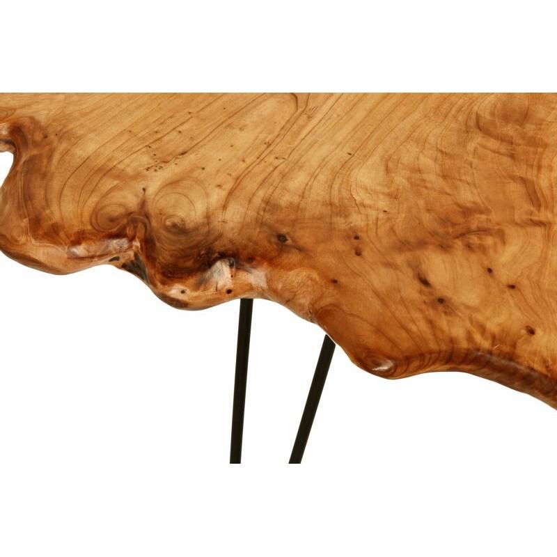 Beistelltisch, Beistelltisch ALYSSA Metall und Zeder Holz (Natur) - image 42725