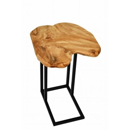 Tavolino, ricca in metallo e legno del fascio di cedro (naturale)